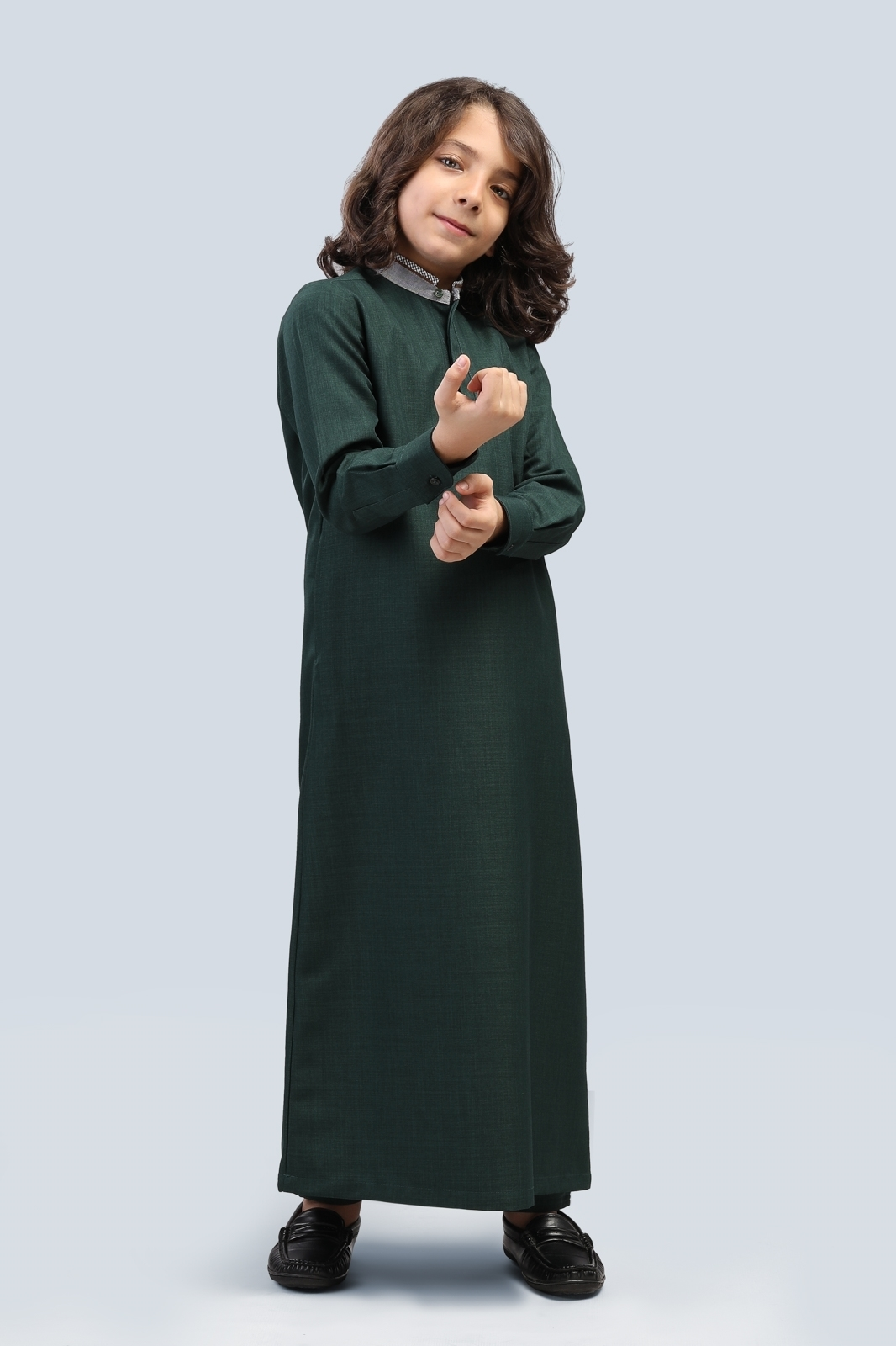 Picture of kids long suit - long sleeve with oxford collar (K1)
